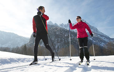 Cross-country-skiing-in-St.-Johann-in-Tirol